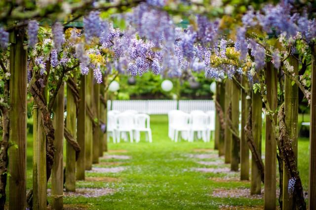 garden wedding ceremony site